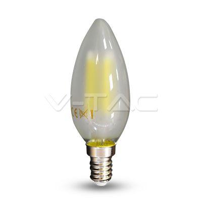 2,52€ Lampadina LED - 4W Filament E14 Opaco Candela 2700K  SKU: 4474 | VT: VT-1936   Lampadina LED - 4W Filament E14 Opaco Candela 4000K  SKU: 4475 | VT: VT-1936    Lampadina LED - 4W Filament E14 Opaco Candela 6400K  SKU: 4476 | VT: VT-1936