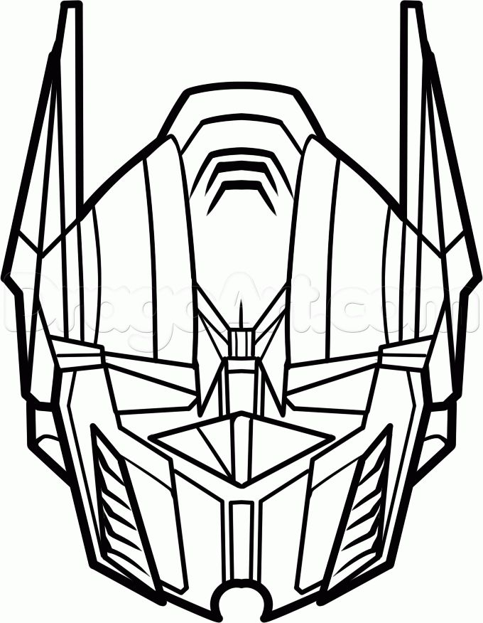 how to draw optimus prime easy step 6