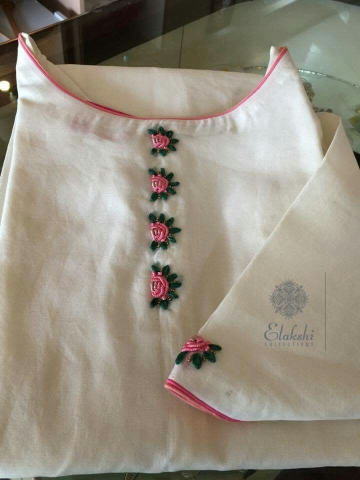 Simple embroidery designs churidar imgkid the