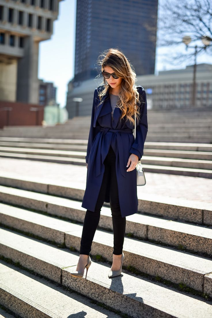LookBook Store Navy Trench Coat | The Girl from Panama