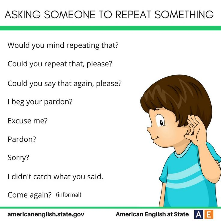 Ways of asking someone to repeat something #learnenglish