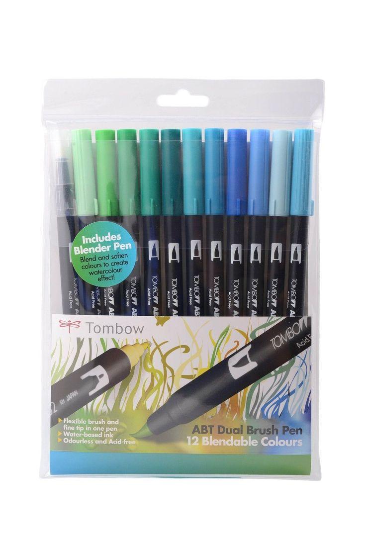 Tombow Brush Pen 12 Colour Ocean Set