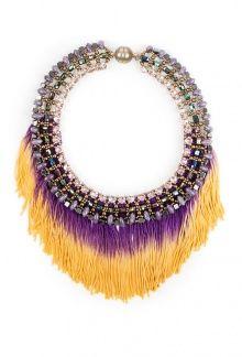 Цветное ожерелье с бахромой Tataborello