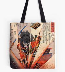 Kuniyoshi Samurai print Tote Bag