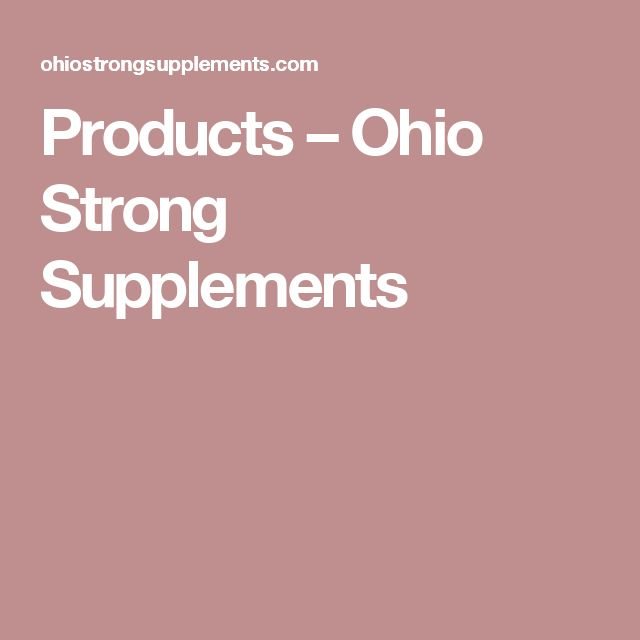 Products – Ohio Strong Supplements