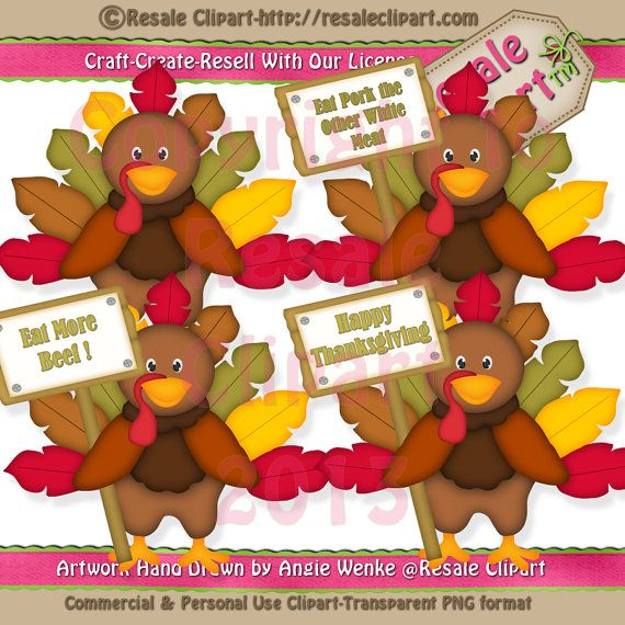 Funny Turkey Clipart Digital ZIP File Download by MaddieZee, $2.50