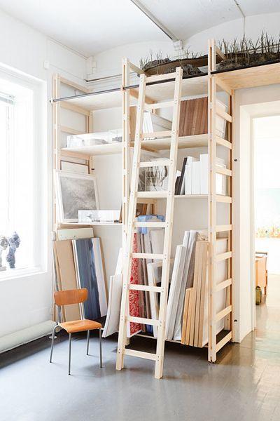 Rangement Atelier Tagere Idee Facile Art Studio Storageart