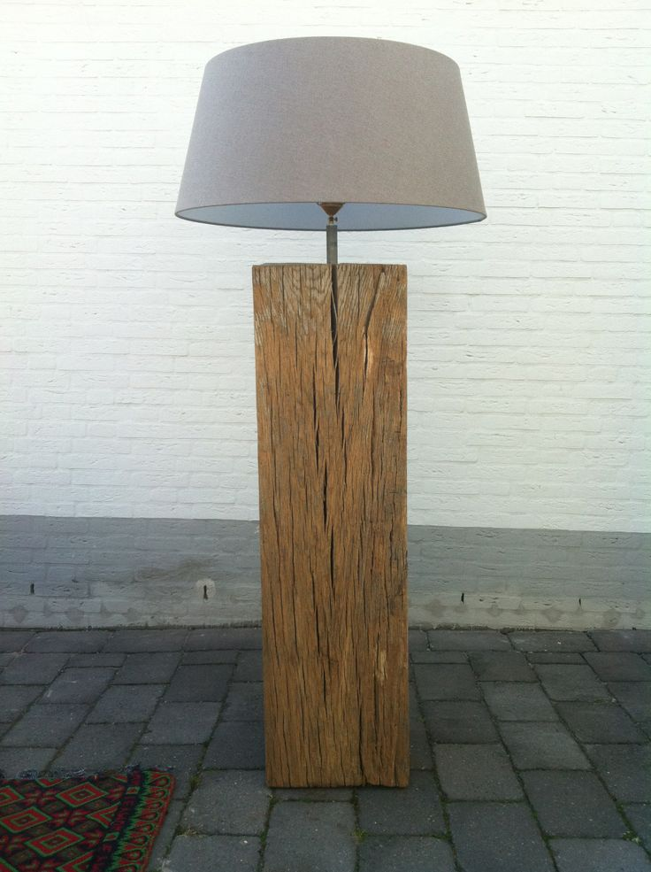 lamp gemaakt van oude dukdalf