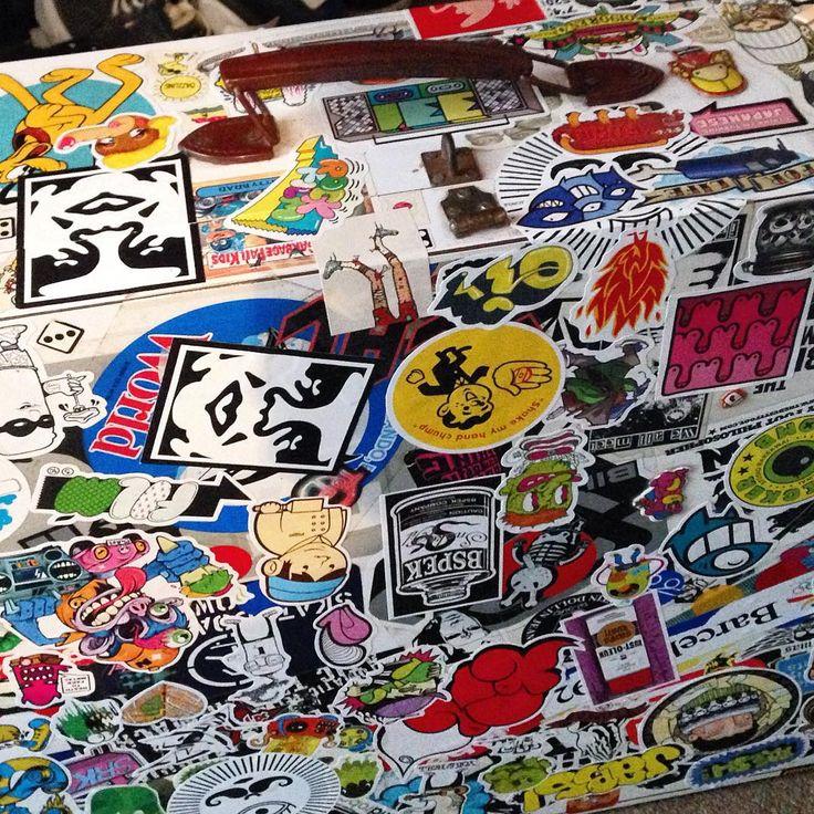 @temperamentall: My is a Sticker Case is ready to! #sticker #case #travelbag  #stickerbomb #bombgram #stickercollection #art #design #travel @bombstagram