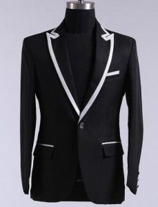 jual jas pria murah warna item krah putih kode model JPj114