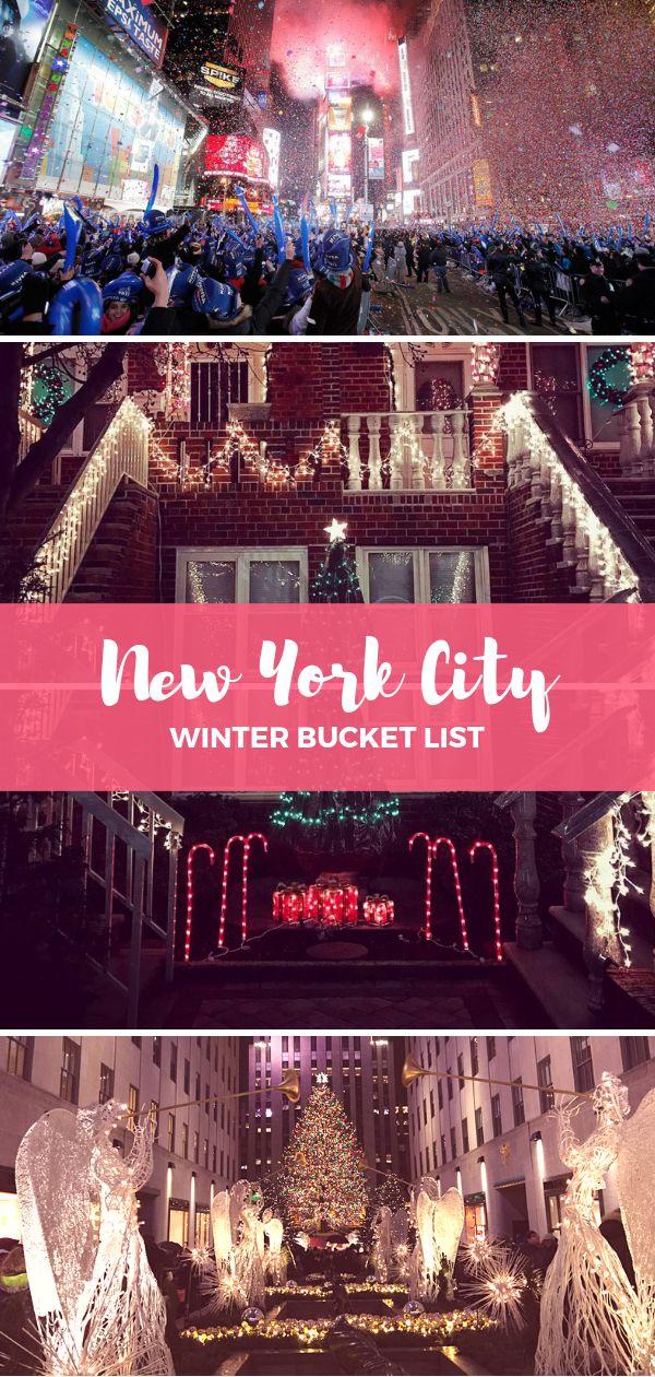 New York City winter bucketlist
