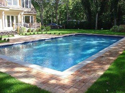 20x40 Gunite pool with Danish Brick Patio.