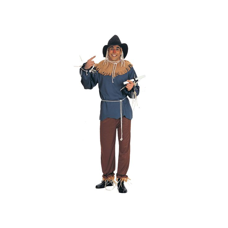 The Wizard of Oz Scarecrow Costume - Adult, Beig/Green (Beig/Khaki)