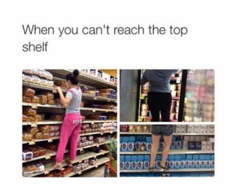 Short people problems: wearing