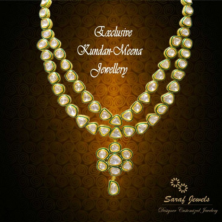 """In-Trend"" exclusive collection of Kundan - Meena Jewellery at Jaipur Showroom of Saraf Jewels. We also deal in customized jewellery. Your Thoughts, Our Implementation!! For queries; Call: 0141-4026333 or Whatsapp: +91 9829055333  ‪#‎kundan‬ ‪#‎kundanjewellery‬ ‪#‎kundanmeena‬ ‪#‎finejewellery‬ ‪#‎jewellery‬ ‪#‎gold‬ ‪#‎earrings‬ ‪#‎kundanearrings‬ ‪#‎jaipur‬ ‪#‎India‬"