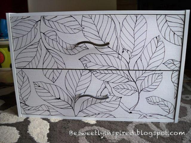 Refinish Laminate furniture with Fabric!!