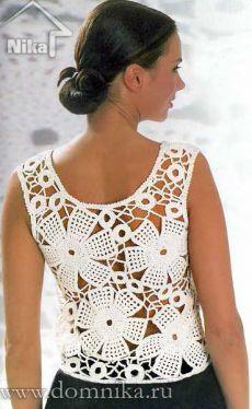 crochet top | Crochet Irish | Связанные Крючком Топы, Кружева Спина и Белые Майки