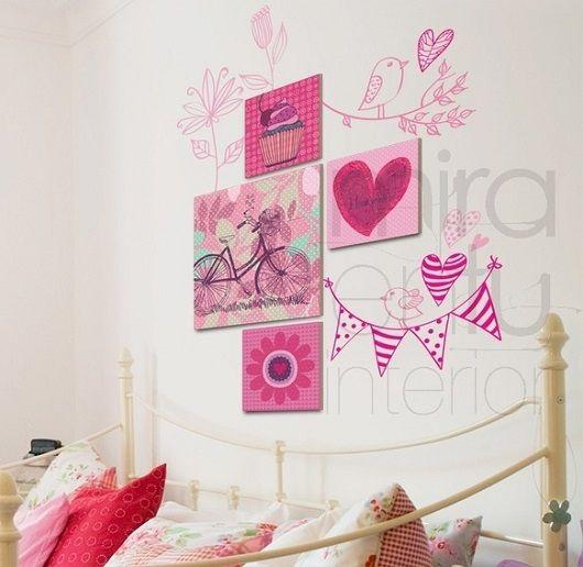 Mejores 89 im genes de decoraci n paredes de habitaciones for Paredes habitacion infantil