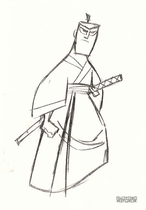 Рисунки самурая джека