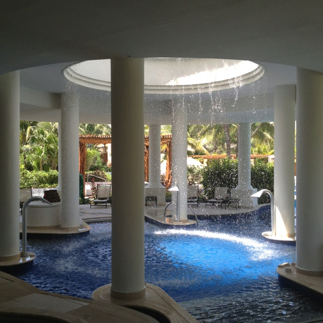 Miiles Spa at Excellence Riviera Cancun - one of most beautiful I've ever seen & experienced (HydroTherapy Circuit) This was awesome!!!