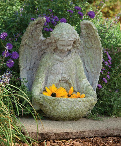 A Garden Angel To Display Flowers