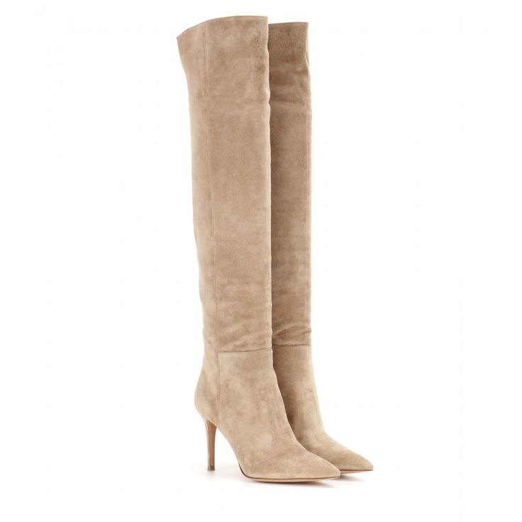gianvito suede boots the warm beige hue