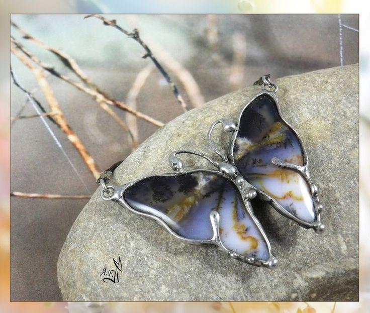 Рождение бабочки. Мастер-класс по созданию украшения в технике «Тиффани» - Ярмарка Мастеров - ручная работа, handmade