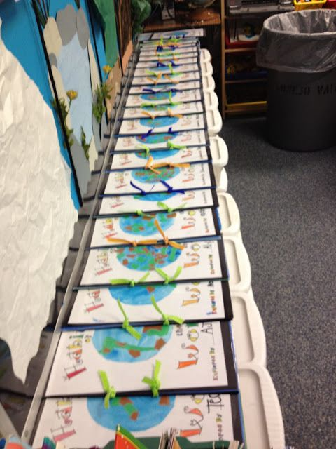 Habitats of the World Books...Great first grade science keepsake.