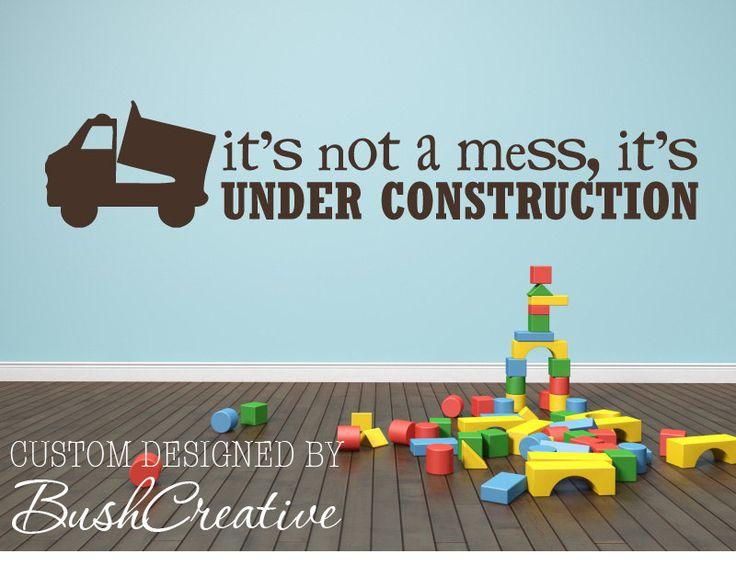 Boy Wall Decal Under Construction Boy Nursery by bushcreative, $15.00