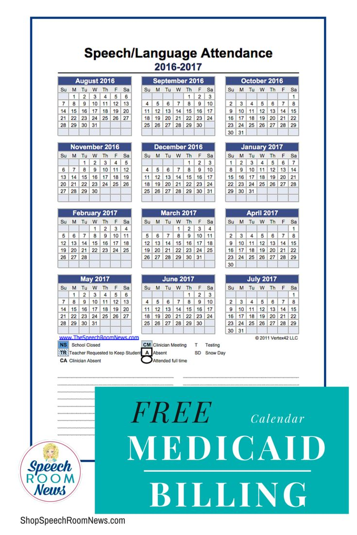 Free Attendance Sheet to keep track of session for Medicaid Billing for speech therapy.