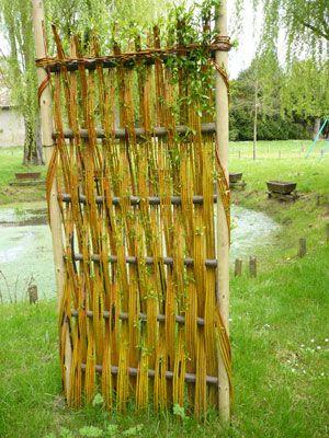 Les 25 meilleures idees concernant paniers en osier sur for Decoration pour jardin exterieur 1 vannerie exterieure haie vivante en osier tresse abri