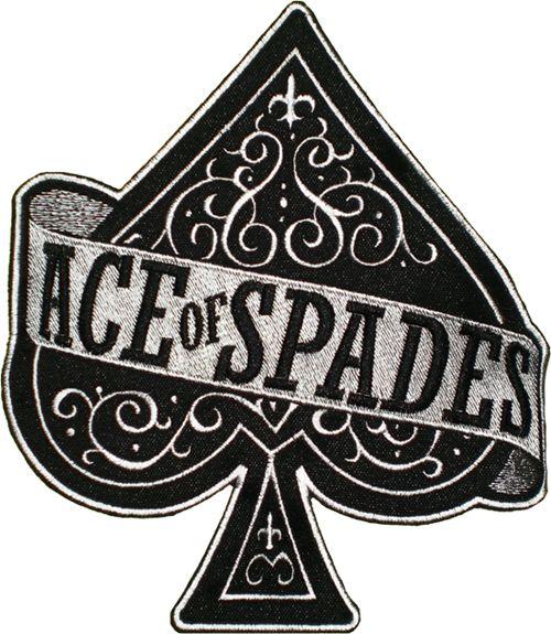 Ace of Spades logo embroidered #ace #blackace #aceofspades
