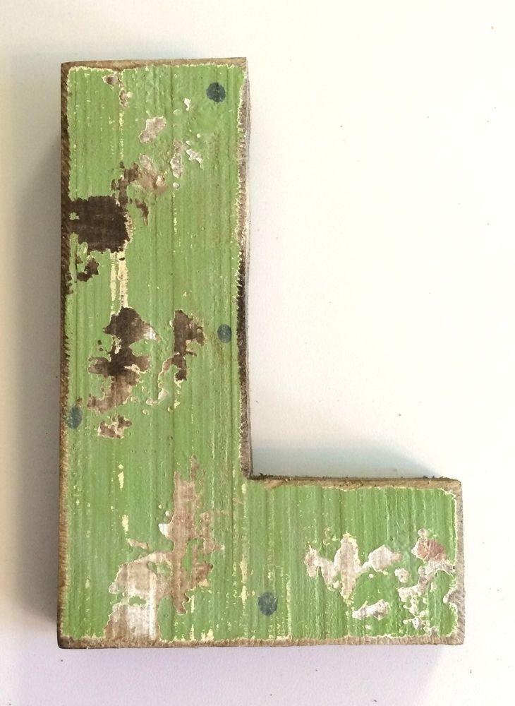 Creative Co Op Rustic Distressed 3d Fir Wood Letter Quot L