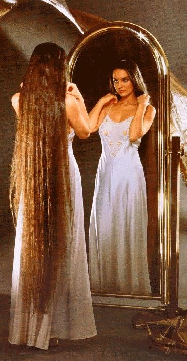 crystal gayle with long hair | What do I have in common with Crystal Gayle?