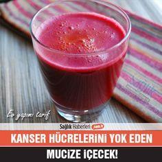 Kanser hücrelerini yok eden mucize içecek!