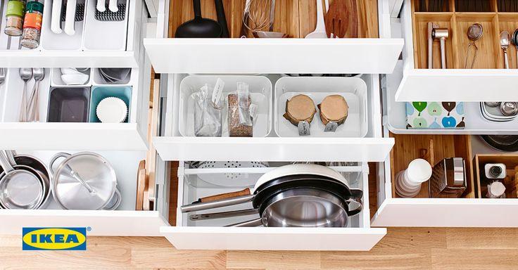 Las 25 mejores ideas sobre soluciones desorden en for Organizar armarios cocina