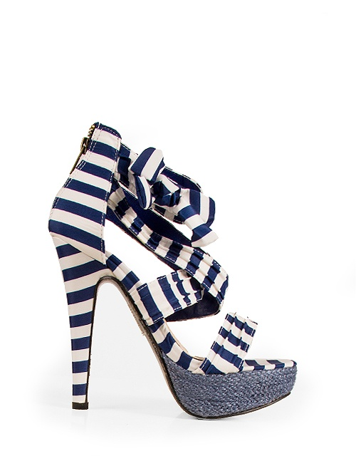 #highheel striped #sandals with zipper on the back. #toimoifashion #fashion #fashionable #style #stylish #ss13 #summer #highheels #shoes