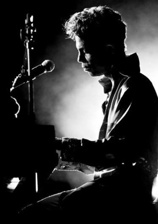 Prince- One night alone. Love the lighting, love the smoke.