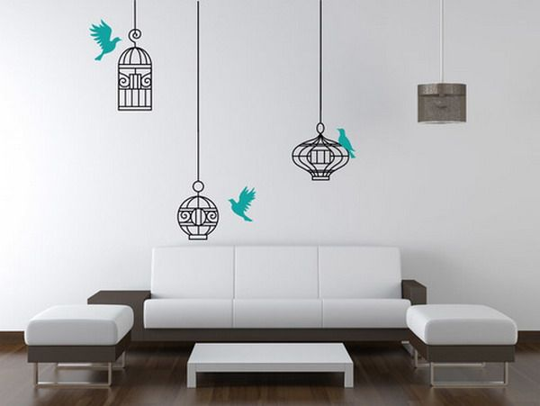 Cute Cheap Wall Decals Contemporary Birds and Cage Wall Decals in Living Room Design Installing Birds
