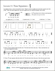Free Printable Music Worksheets | Opus Music Worksheets | Music Theory Worksheets - Music Theory Worksheet 11 - Time Signature 2/4