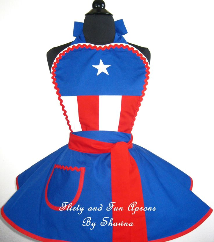 Captain America Costume Apron by FlirtyandFunAprons on Etsy https://www.etsy.com/listing/191429234/captain-america-costume-apron