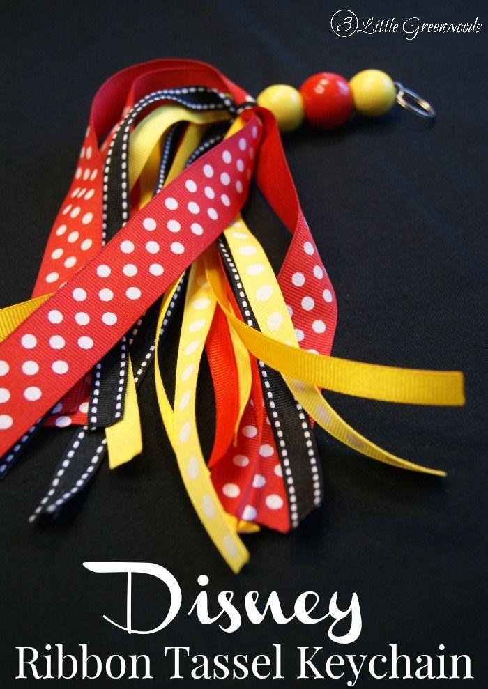 Disney Ribbon Tassel Keychain {Organize Me}