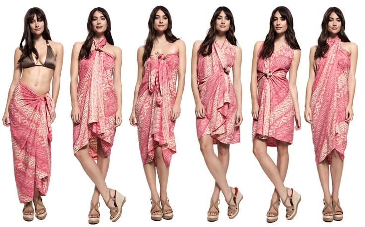 How to tie a sarong six ways Silk print sarong | Indonesian Sarongs | style-passport