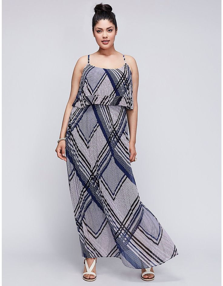 Pleated Tiered Maxi Dress | Lane Bryant