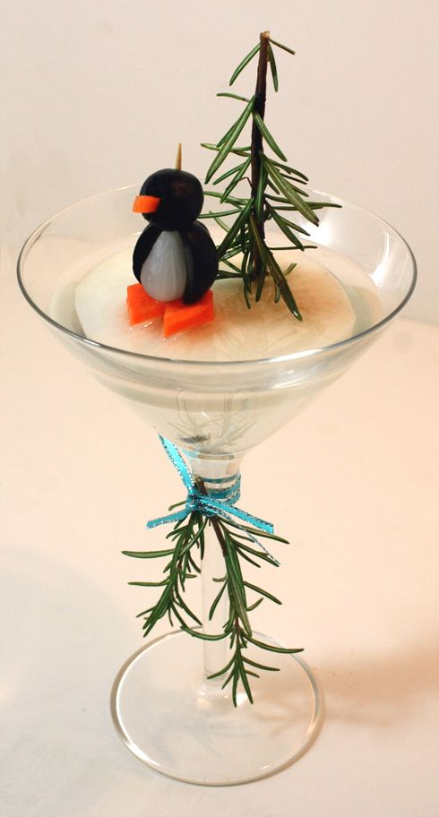 Penguin Olive Dirty Martini from Today Show by JeanneBenedict.com
