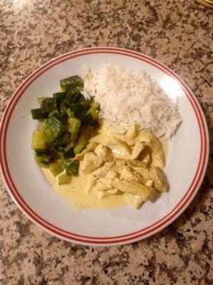 Art & Candy: Straccetti di pollo al curry con contorno di zucch...