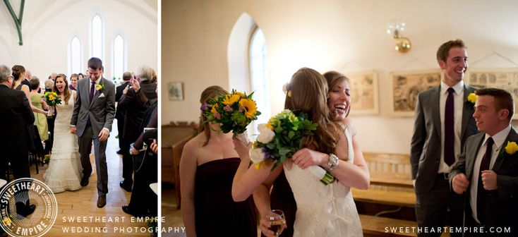 Enoch Turner Schoolhouse - Congratulating the bride and groom. #sweetheartempirephotography