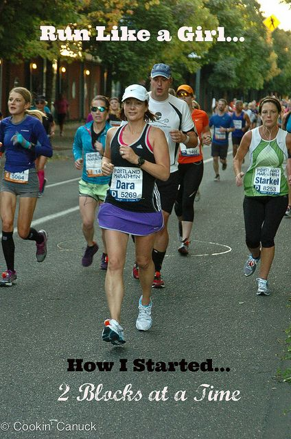 Run Like a Girl: How I Started, 2 Blocks At A Time | cookincanuck.com #running #runwithdara #fitness by CookinCanuck, via Flickr