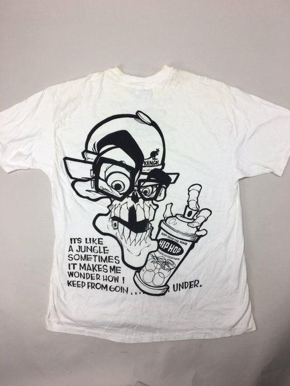 ce495e36 1992 Street Smart Skull Shirt by legendary graffiti artist HEX! RARE! Vtg  Hip-Hop. B-Boy culture history.
