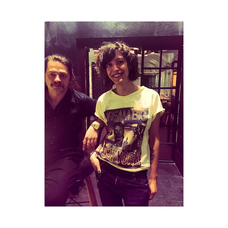 Eugen Radescu, http://pavilioncenter.ro and gorgeous Anca Plesoiu, intelectual socialite wearing the New York tee.  Alt Shift Bucharest, February 2015.